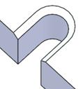 幅=2Rの貫通切欠き形状+90°口元面取り(片側)