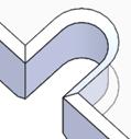 幅=2Rの貫通切欠き形状+90°口元面取り(両側)