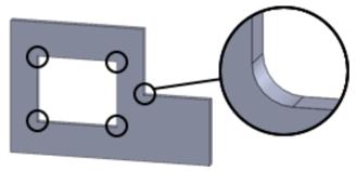透明樹脂の内角R