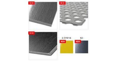 「板金部品」新商品規格の材質に片研材・パンチングメタルを追加! 鉄の無電解ニッケルメッキ、新塗装色もスタート!