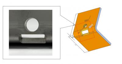 【形状追加】板金部品で曲げ線上の開口部(逃げ穴)に対応! 曲げ近くの穴位置限界を最大60%緩和する、その方法とは?