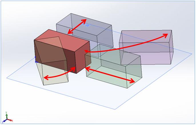 図3.平面に置かれただけの3Dパーツ